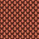 Orange Octopus Pattern by SaradaBoru