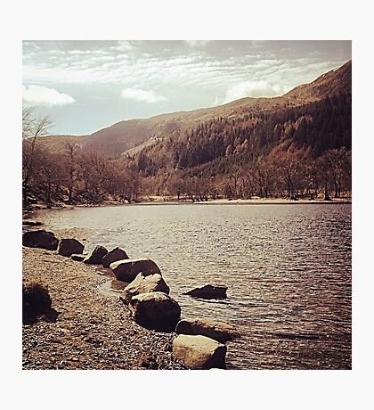 Road Trip Lochs and Mountains Photographic Print