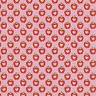Pink Heart Apple Pattern by SaradaBoru