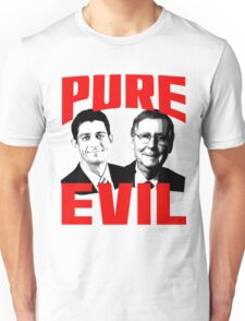 Paul Ryan, Mitch McConnell PURE EVIL Unisex T-Shirt