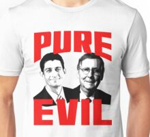 Paul Ryan, Mitch McConnell PURE EVIL Unisex T-Shirt