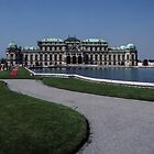 Upper Hofburg Palace and lake Vienna Austria 19840803 0007  by Fred Mitchell