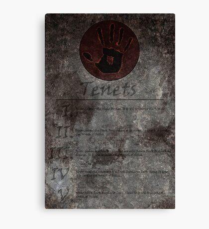 Dark Brotherhood's 5 Tenets Canvas Print