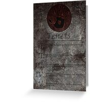 Dark Brotherhood's 5 Tenets Greeting Card