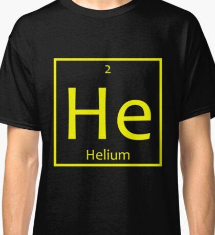 Helium (He) Chemical Symbol Classic T-Shirt