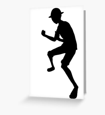 Luffy Silhouette  Greeting Card