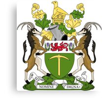 Rhodesian Coat of Arms Canvas Print