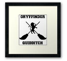 Gryffindor Quidditch Framed Print