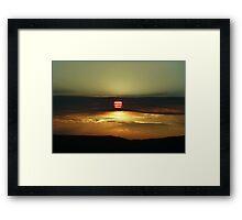 Sunset on the California Nevada border Framed Print