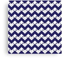 Fashionable chevron and nautical design together Canvas Print