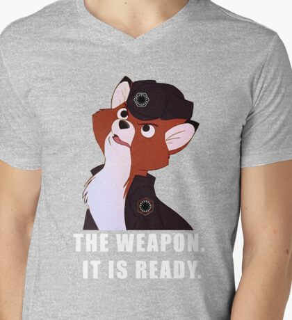 -THE WEAPON- Mens V-Neck T-Shirt
