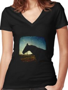 Urban Cowboy - TTV Women's Fitted V-Neck T-Shirt