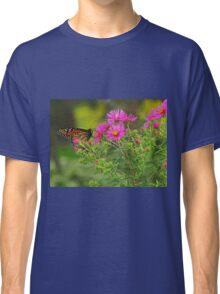 Monarch and Pink Asters Classic T-Shirt