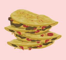 Glitch Food spicy quesadilla Kids Tee