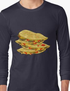 Glitch Food spicy quesadilla Long Sleeve T-Shirt