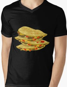 Glitch Food spicy quesadilla Mens V-Neck T-Shirt