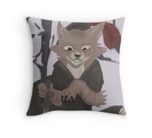 Frisk the Fox Throw Pillow