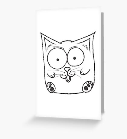 SquareCat#1 Greeting Card