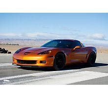 Corvette on Airstrip  Photographic Print