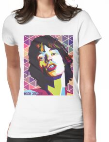 mc jagger 1 Womens Fitted T-Shirt