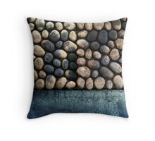 Faux Cobble Pavers Throw Pillow