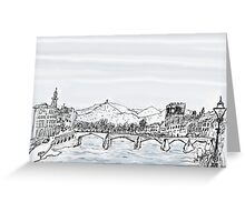 Firenze Italy a bridge over the Arno * Greeting Card