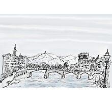 Firenze Italy a bridge over the Arno * Photographic Print