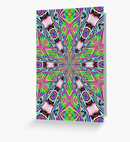 psychedelic radiance totem Greeting Card
