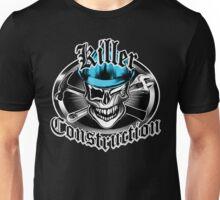 Construction Skull sp blue 6: Killer Construction Unisex T-Shirt