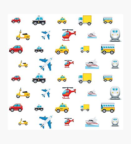 EmojiOne - Transportation Print Photographic Print