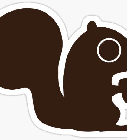 Squirrel with Nut Sticker