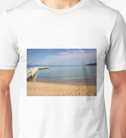 Jetty at Safety Beach, Mornington Peninsula, Victoria, Australia Unisex T-Shirt