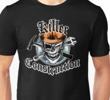 Construction Skull sp orange 6: Killer Construction Unisex T-Shirt