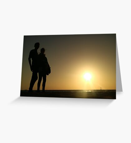 People In The Shadows  Greeting Card