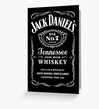 Jack Daniels Logo Merchandise Greeting Card