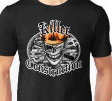 Construction Skull br orange 6: Killer Construction Unisex T-Shirt
