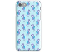 Watercolor Seahorse Pattern iPhone Case/Skin