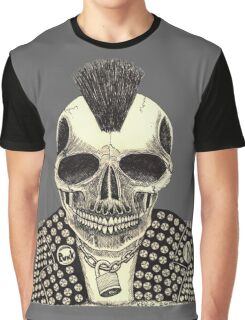 CRUSTY SKULL PUNK Graphic T-Shirt