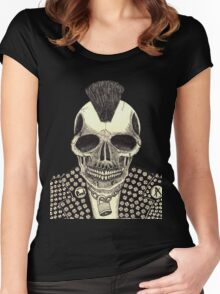 CRUSTY SKULL PUNK Women's Fitted Scoop T-Shirt