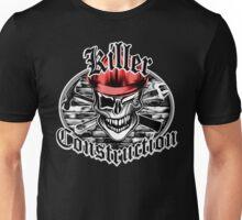 Construction Skull br red 6: Killer Construction Unisex T-Shirt