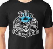 Construction Skull br blue 6: Killer Construction Unisex T-Shirt
