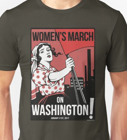 Womens March on Washington 2 (Vector Recreation) Unisex T-Shirt