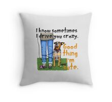 Good Thing I'm Cute, by Artwork by AK Throw Pillow