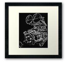 """""""Shottie"""" - Supercharged V8 Engine Framed Print"""