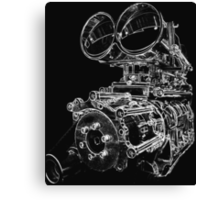 """Shottie"" - Supercharged V8 Engine Canvas Print"