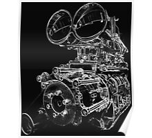 """Shottie"" - Supercharged V8 Engine Poster"