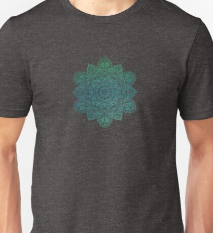 Turquoise Watercolor Intricate Mandala  Unisex T-Shirt