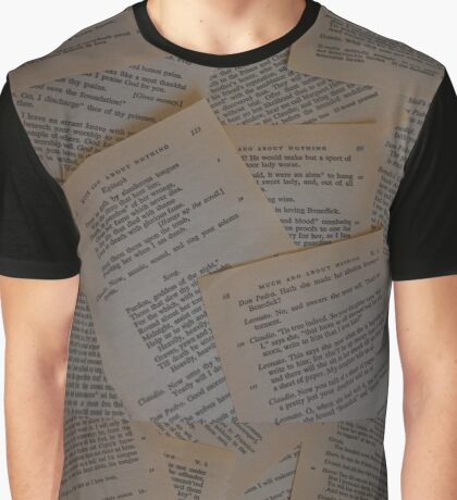 Much Ado About Pages Graphic T-Shirt