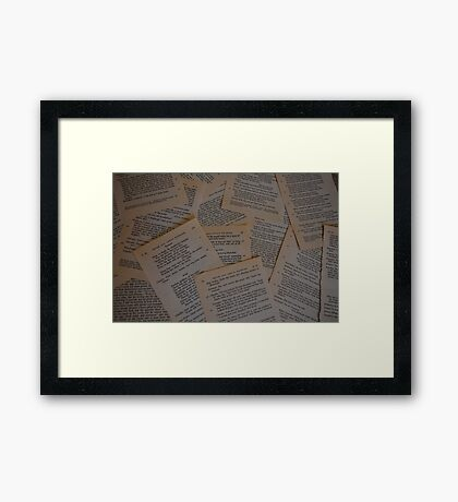Much Ado About Pages Framed Print
