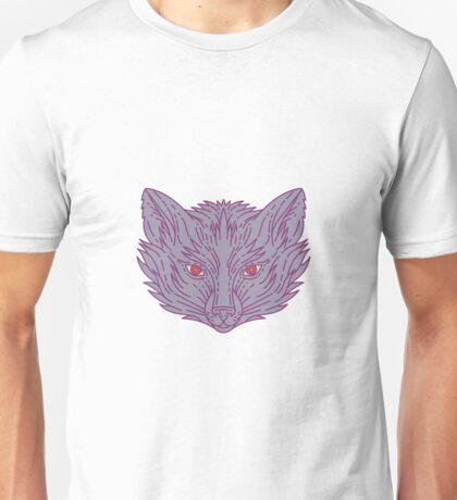 Fox Head Mono Line Unisex T-Shirt